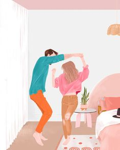 Beautiful Illustrations by Malena Flores Cute Couple Art, Cute Couples, Cute Couple Cartoon, Couple Illustration, Illustration Art, Buch Design, Pop Art Wallpaper, Hipster Wallpaper, Cute Couple Drawings