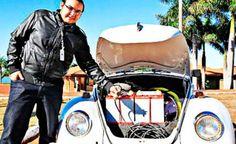 Se meu fusca... fosse elétrico: engenheiro adapta modelo e roda 100 km com R$ 3,50