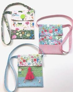 Free tutorial for simple sling bag or crossbody tote for kids. - Free tutorial for simple sling bag or crossbody tote for kids. These delightfully simple totes show - Diy Bags Purses, Fabric Purses, Fabric Bags, Bag Pattern Free, Bag Patterns To Sew, Pouch Pattern, Pattern Sewing, Kids Purse, Baby Set