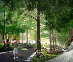 Modern Landscape Design, Landscape Architecture Design, Concept Architecture, Urban Landscape, Landscape Architects, Park Landscape, Landscape Plans, Forest Landscape, Country Landscaping
