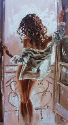 Oil painting - the living art! Arte Pop, Pics Art, Erotic Art, Paintings For Sale, Belle Photo, Female Art, Art Inspo, Art Girl, Urban Art