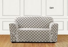 Sure Fit Slipcovers Buffalo Check One Piece Straight Skirt w/Cord Slipcover - Loveseat Tire Furniture, Patio Furniture Covers, Sure Fit Slipcovers, Loveseat Slipcovers, Couch Covers, Vintage Decor, Love Seat, Buffalo Check