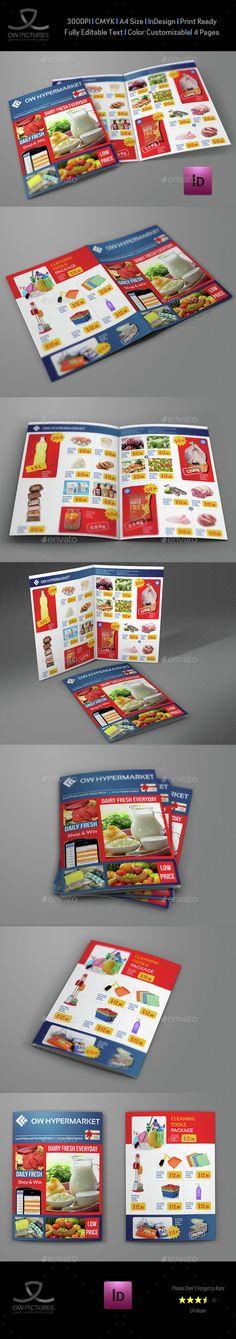 Supermarket Products Catalog Bi-Fold Brochure Product catalog - product flyer