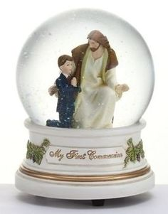 Jesus With Boy | Musical Figurine | 5-1/2"