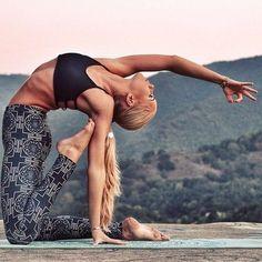 Camel pose variation \ ustrasana \ yoga backbend