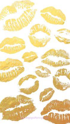 Gold white lips pout- Patten inspiration