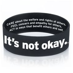 It's Not Okay Silicone Bracelet Item # * Save with promo code Silicone Bracelets, Its Okay, Promotion, Success, Coding, Education, Funny, Its Ok, Funny Parenting