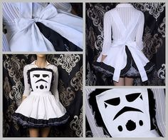 Star Wars Storm Trooper Helmet Pinafore Apron Costume by mtcoffinz, $85.00