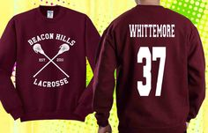 Jackson Whittemore 37 Sweater Black White and Maroon by PONCOWATI