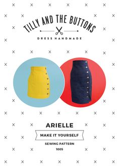 Women's Pencil Skirt Sewing Pattern for the Arielle Printed Skirt Pattern from Tilly & The Buttons