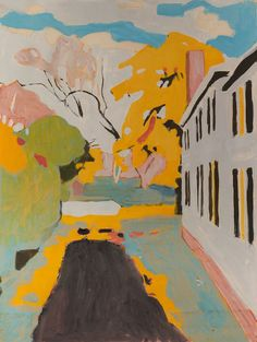 Fairfield Porter (American, 1907–1975), Study for The Driveway, c.1967. Mixed media on paper, 29 7/8 x 23 5/8 in.