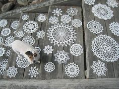 Doilies on the stair or on the table?