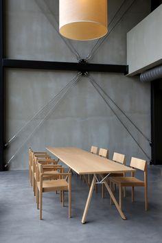 Lab table (design Harri Korhonen) and Intro chairs (design Ari Kanerva)