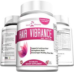 Hair Skin and Nails Vitamin Supplement with Biotin - Promotes Faster Hair Growth, Glowing Skin, Strong Nails - For Women & Men - 60 Tablets - Made in USA Island Vibrance http://www.amazon.com/dp/B00X51LU2I/ref=cm_sw_r_pi_dp_F8l5wb0F1Z18D
