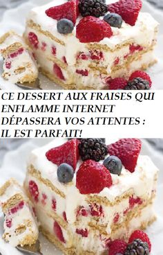 Light Desserts, Summer Desserts, No Bake Desserts, Biscuits Graham, Desserts With Biscuits, Poke Cakes, Summer Fruit, Trifle, What To Cook