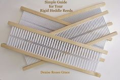 Simple Guide for your Rigid Heddle Reeds | Schacht Spindle Company. Great photo of scarf with bulky warp and fingering weft.