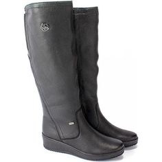 Obuv Rieker - Čižmy - Dámske čižmy zateplené na platforme Rieker TEX - čierna Riding Boots, Platform, Shoes, Fashion, Moda, Zapatos, Shoes Outlet, Fasion, Shoe