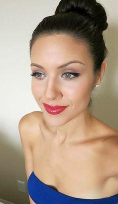 The HONEYBEE: Easy holiday look using drug store makeup!