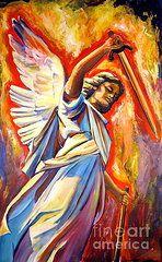 Angels Christian Art - St. Michael  by Sheila Diemert