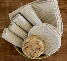 Organic Waffle Facial Cloth & Facial Rounds by NaturalLinens