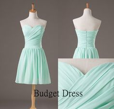 Short Bridesmaid Dress with Sweetheart Neckline by BudgetDress, $59.00