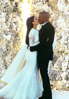 It's official! Kim Kardashian and Kanye West finally tie the knot.