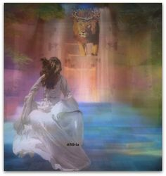 """Using my Talents for HIS Glory"". Beautiful Bride of Christ painting running to the Lion of Judah coming down the heavenly palace stairs. Please also visit www.JustForYouPropheticArt.com for more colorful Prophetic Art you might like to pin or purchase. Thanks for looking! #propheticart"