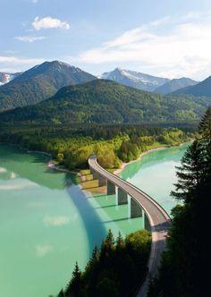 Sylvenstein Lake, Bavaria, Germany: