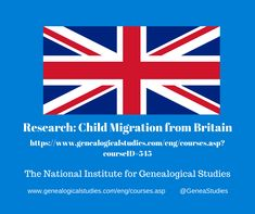 Course for Child Migration from Britain Research. #ChildMigration #BHC #BritishGenealogy #genealogy #familyhistory Research Websites, Study Websites, Research Sources, Migrate To Canada, British Home, Church Of England, Genealogy Research, Personal History, National Archives