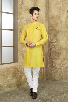 Wear clothes that you're happy to get messy! Yes, it will be messy. With everyone wanting to put some on your, be ready to get covered! From Our latest Collection of Mens Indian Wear, Mens Ethnic Wear, Indian Groom Wear, Indian Men Fashion, Mens Fashion Suits, Wedding Kurta For Men, Wedding Dresses Men Indian, Wedding Men, Kurta Pajama Men