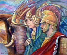 Hannibal and princess Himilce from Iberia.