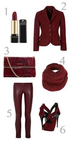 Burgundy #fashion #colorboard #color