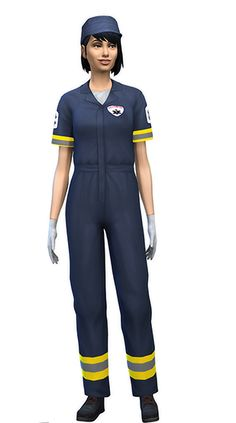 Josie Paramedic OutfitI created this for a scene in my story, but a few folks expressed interest in it as well, so here you go! It only has the one blue swatch, and you'll need Get to Work for these...
