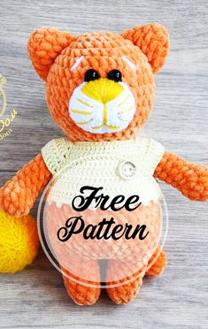 Orange cat amigurumi free crochet pattern part 1 – Bloğ Amigurumi Giraffe, Crochet Patterns Amigurumi, Amigurumi Doll, Crochet Toys, Amigurumi Minta, Crochet Animal Patterns, Stuffed Animal Patterns, Crochet Animals, Chat Crochet
