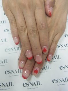 nails - cute valentine's day nails. very simple. i like.
