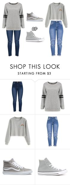 """""""Untitled #383"""" by thenerdyfairy on Polyvore featuring Vans and Converse"""