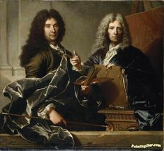 Charles Le Brun (1619-1690) And Pierre Mignard (1612-1695) Artwork by Hyacinthe Rigaud