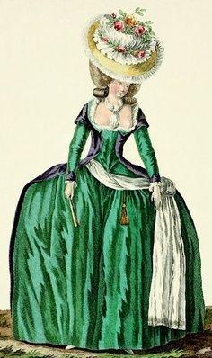 """Dress 'A la Turque"""". 1780"""