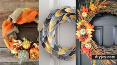 Ready for fall? You may be ready for cooler weather and fun fall activities, but does your home decor show it? Why not make a super statement for fall by decorating your front door with some awesome fall wreaths. DIY fall wreaths are some of the prettiest of all, with colors of autumn and incredible
