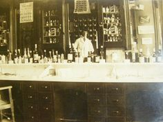 The barbershop of my grandfather. He is the gentleman on the photo
