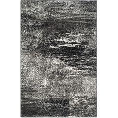Found it at Wayfair - Adirondack Black, Silver/White Area Rug