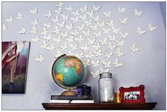 love the butterflies on the wall
