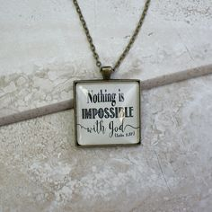 Nothing is impossible with God Necklace