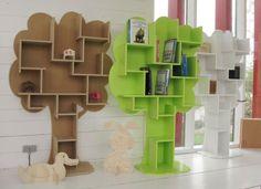 Çocuk odaları için ağaç model kitaplık