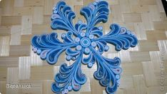 Master Class New Year MK Quilling Paper snowflakes pattern band photo 2