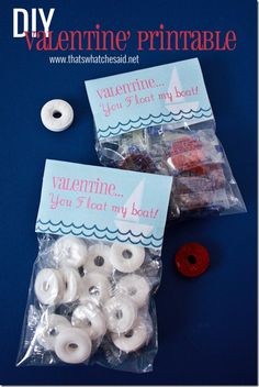 """You float my boat, Valentine!"" paired with life savers and a free printable!"