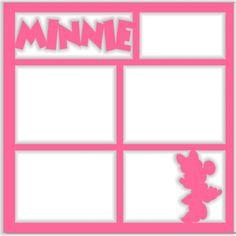 Minnie - Laser Die Cut Scrapbook Overlay