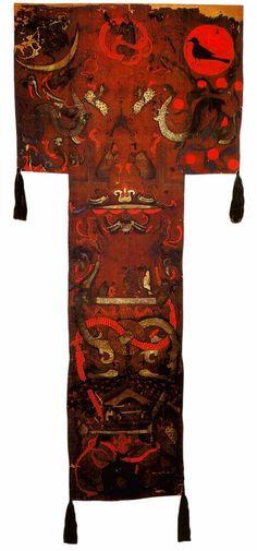 Погребальный стяг с изображением сцен Загробного мира Китай