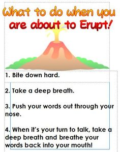 1st graders participated in a hands on interruption activity and then were read My Mouth is A Volcano byJulia Cook (they were required to interact during the story by repeating certain lines). At the end of our lesson teachers were presented with this little poster to keep in their class.