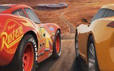 Download wallpapers Cars 3, 2017, Lightning McQueen, Cruz Ramirez, 4k, characters, new cartoons